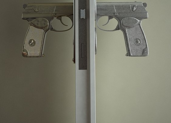 9mm pistol door handle
