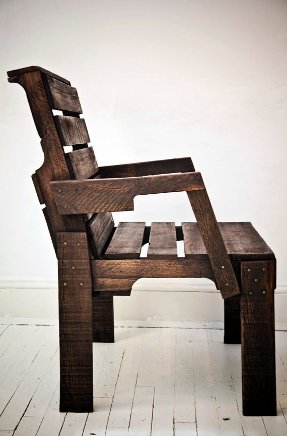 Pallet Captain's Chair by roughsouthhome