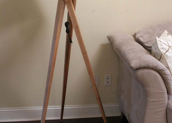 Tripod Floor Lamp  Maple by naturalgrain on Etsy