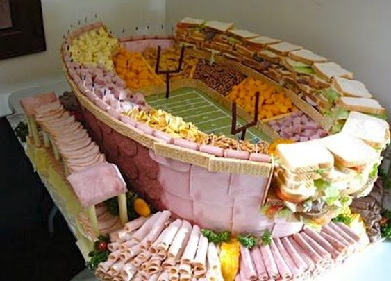Photos: Six dazzling Super Bowl meat stadiums