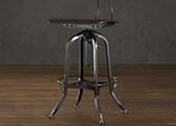 Vintage Toledo Chair Distressed Black   Bar & Counter Stools   Restoration Hardware