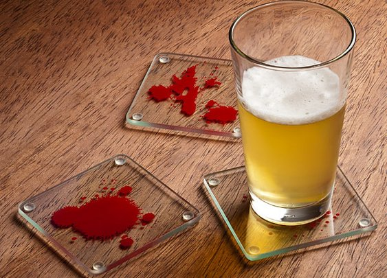 Dexter Blood Splattered Coasters