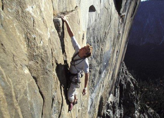 Climbing and slack-lining in Yosemite