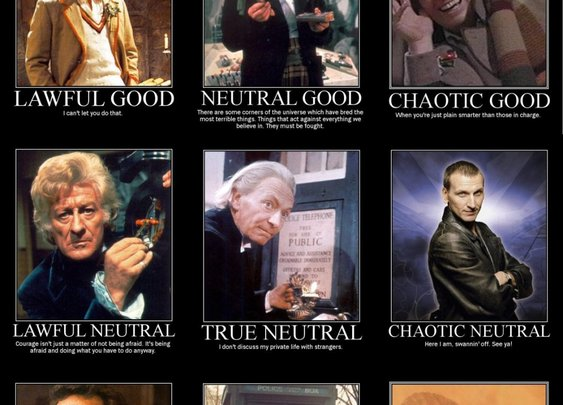 Doctor who alignment chart.