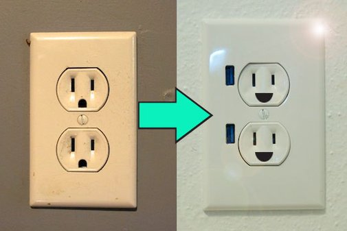 How To Upgrade a Wall Outlet to USB Functionality  | Apartment Therapy