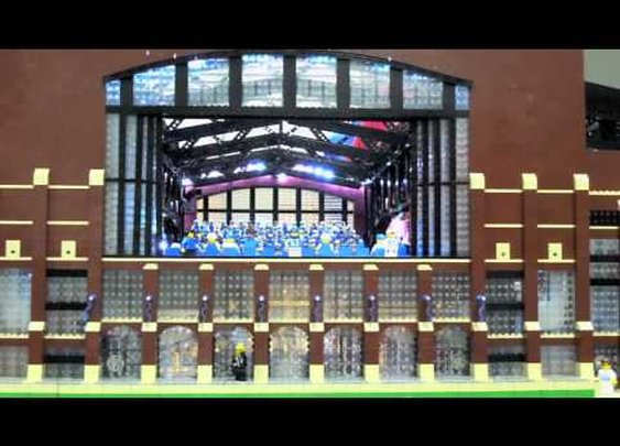 Lucas Oil Stadium in LEGO Motion