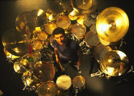 A collection of big drum kits