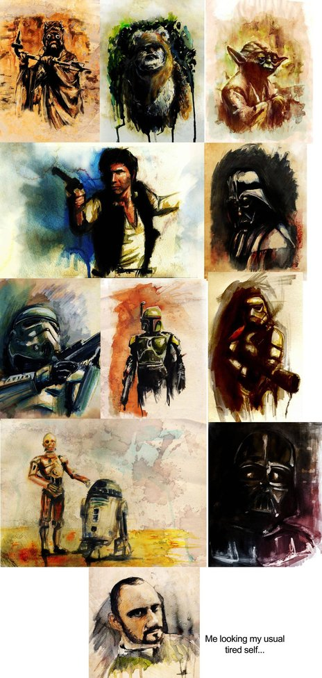 Star Wars water colors. - Imgur