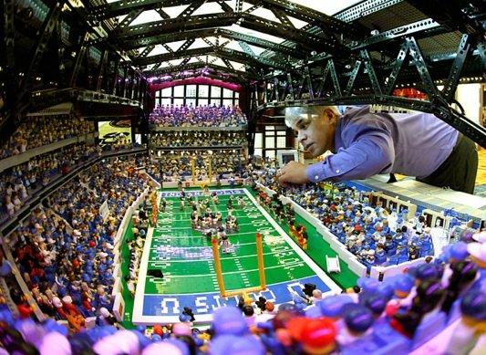 Super Bowl: Lucas Oil Stadium, Built With Legos