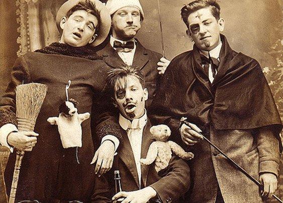 Four young men circa 1910