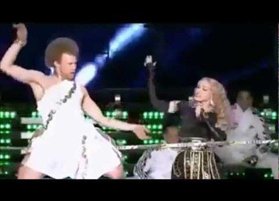 Madonna Super Bowl 46 Halftime Show Tightrope - Slackliner      - YouTube