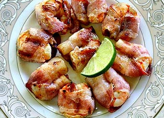 Chipotle Lime Bacon-Wrapped Grilled Shrimp