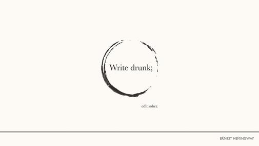 Hemingway on writing