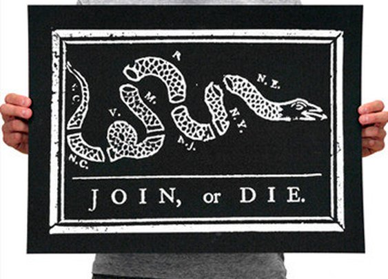 Declaration Clothing - Join or Die Print - A Historically Themed Clothing Line