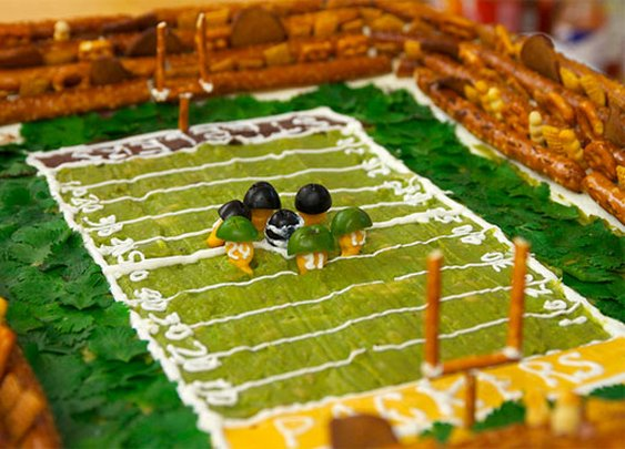 Super Bowl: How to Build an Edible Stadium with a Guacamole Field | Serious Eats