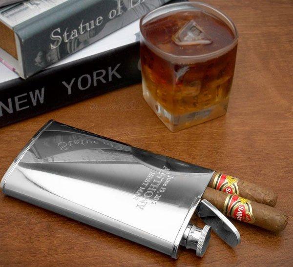 Cigar Holder Flask