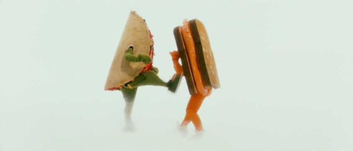 Grilled Cheese VS Taco HOOBASTANK!
