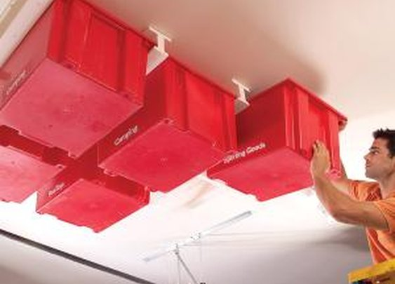 Create a Sliding Storage System On the Garage Ceiling   The Family Handyman