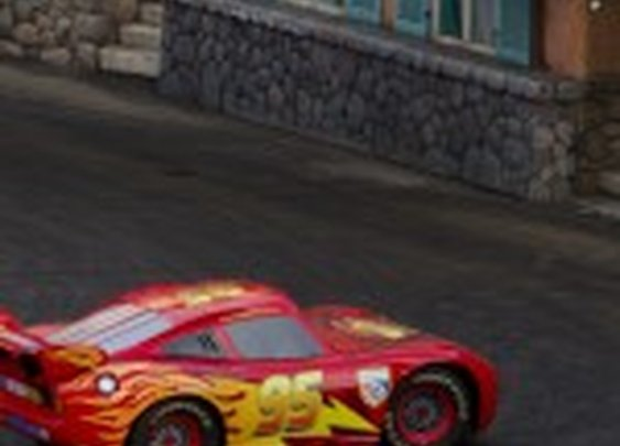 Lightning McQueen hangs out at Disney's Hollywood Studios