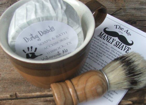 Shaving Mug Set Vintage Shaving Mug  Cyber by DirtyDeedsSoaps