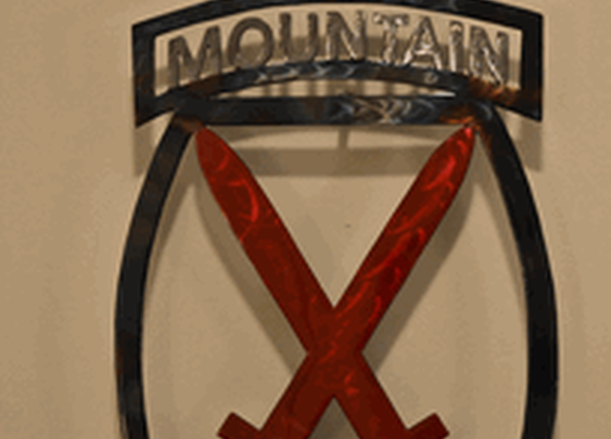 10th Mountain Metal Limited Edition Sign