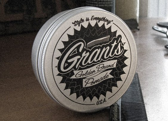 "Grant's Golden Brand Pomade - ""Style is Everything"""
