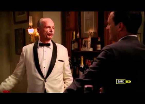Don Draper Makes an Old Fashioned For Conrad Hilton