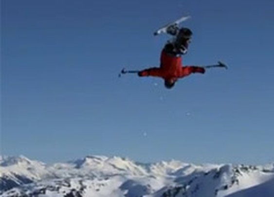 Sit Ski Backflip on Devour.com