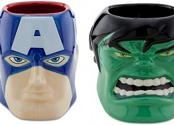 Iron Man, Captain America and The Hulk Sculptured Superhero Mugs