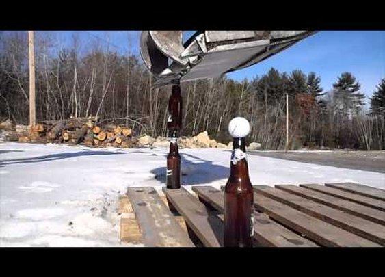 Beer Bottle Excavator Trick