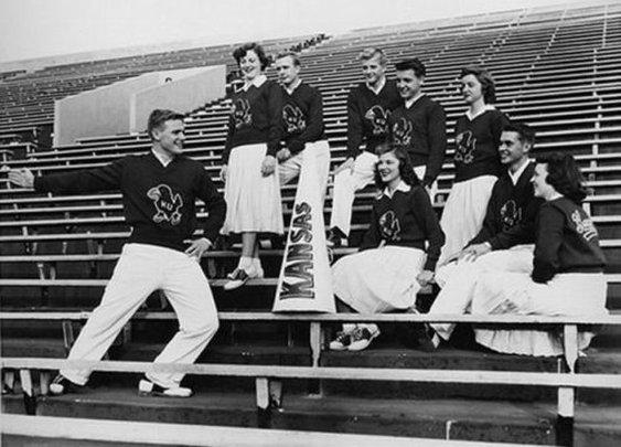 Cheerleaders through the years: