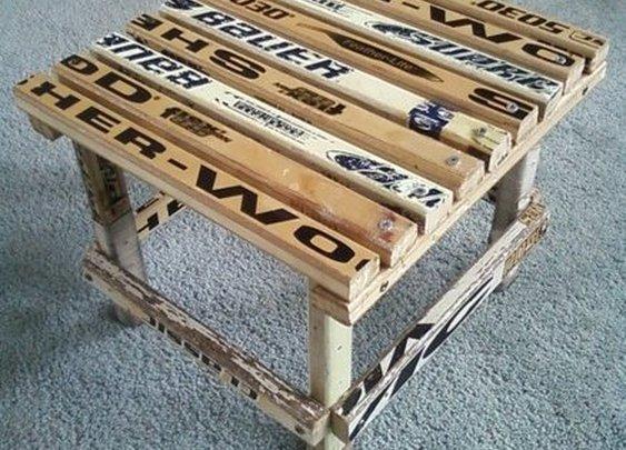 Hockey Stick Stool - by Mike Soramaki @ LumberJocks.com ~ woodworking community