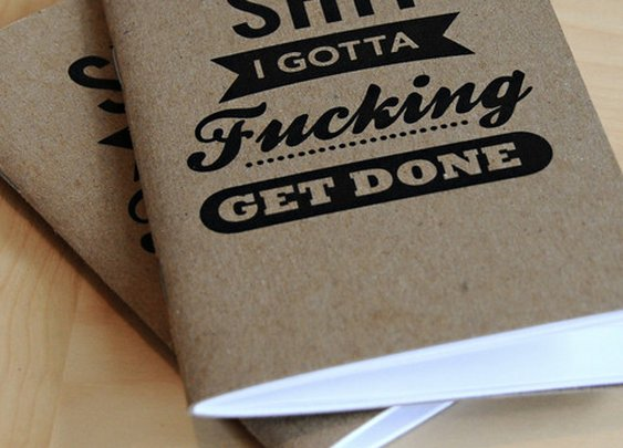 Shit I Gotta Fucking Get Done Notebooks