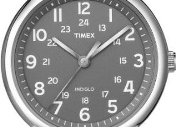Timex Men's T2N649KW Weekender Gray and Orange Slip Through Strap Watch: