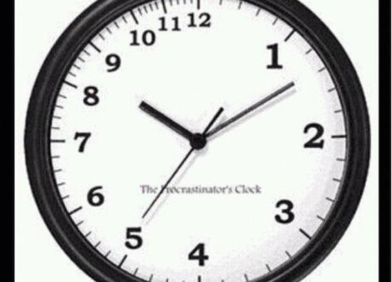 The procrastinator's clock