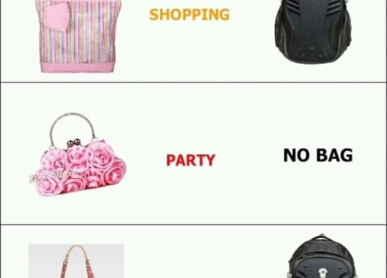 Girls' bags and boys' bags