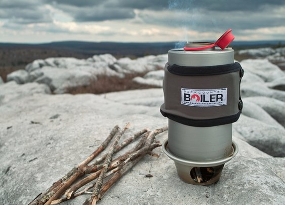 Backcountry Boiler: Hot water from found fuel by Devin Montgomery