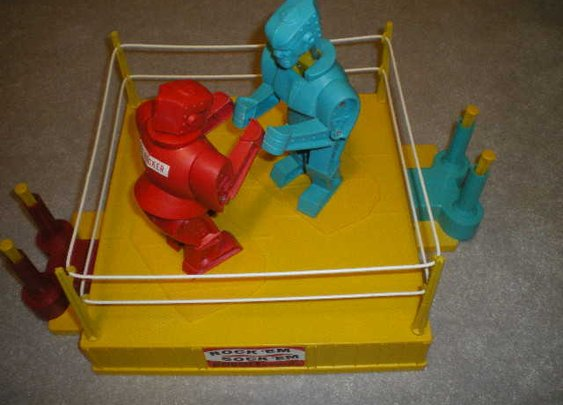 1966 original full sized Rock'em Sock'em Robots from Marx