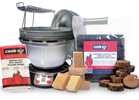 Cook-air, the grill / the revolutionary wood-fired grill