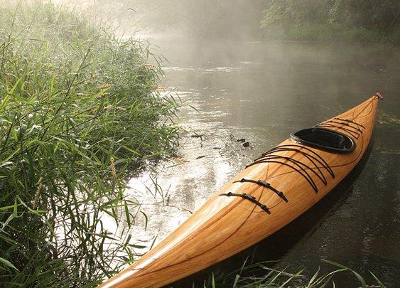 Fancy - Cedar Strip Wood Kayak