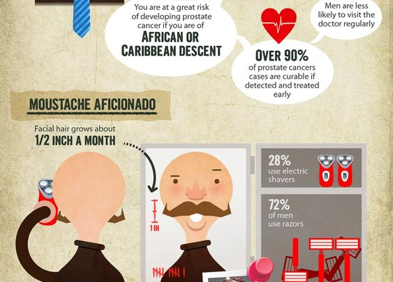The Hairy Truth About The Moustache (Movember Infographic)