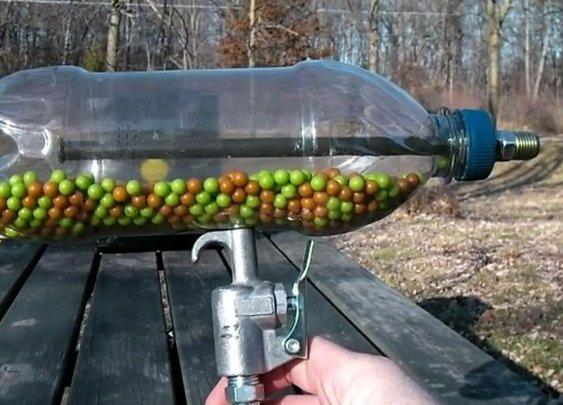 Make your own Airsoft machine gun with a soda bottle | Geek.com