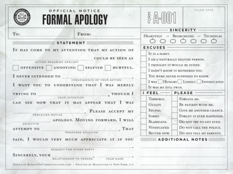 Man up, and apologize