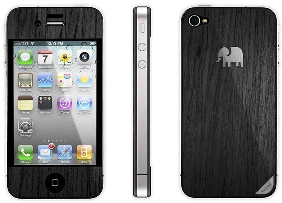 Trunket iPhone Wood Skin - American Rosewood - Jet Black