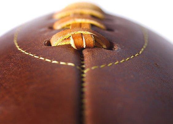 Leather Head Handmade Football - Kaufmann Mercantile Store