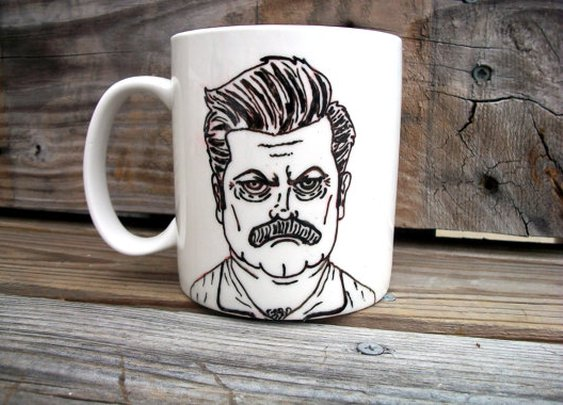 Ron Swanson coffee mug. Whats more manly?