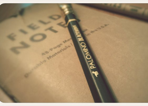 Palomino Blackwing pencil with Field Notes.