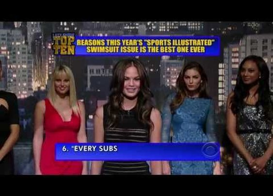 David Letterman: Top Ten List presented by Sports Illustrated Swimsuit models