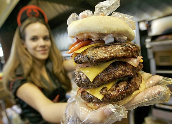 Man eating at Heart Attack Grill suffers heart attack...