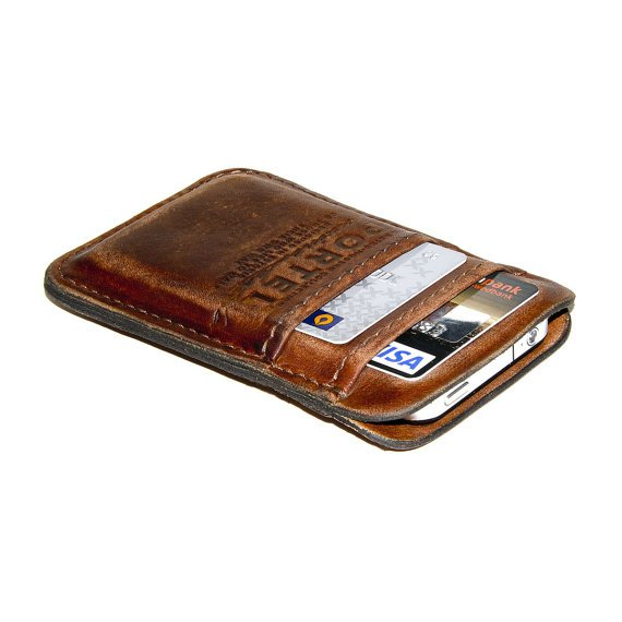 Portel iPhone Aged Leather Wallet